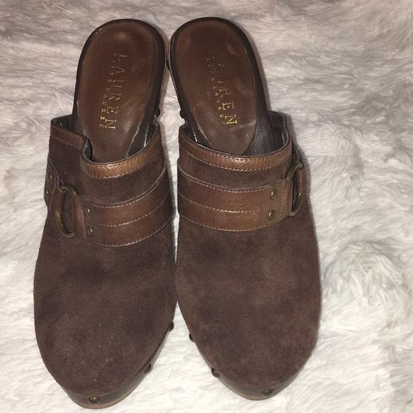 56452d6b3f Lauren Ralph Lauren Vintage Heeled Clogs